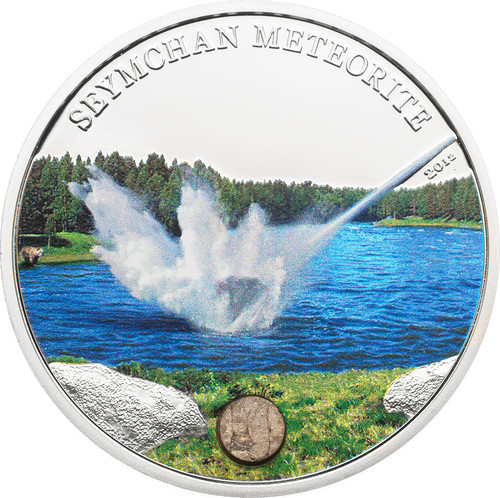 2012 SEYMCHAN METEORITE Silver Coin 5$ Cook Islands