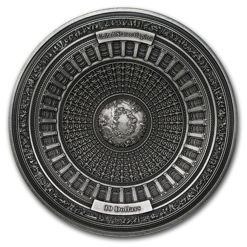 2017 UNITED STATES CAPITOL DOME 4-Layer 100 gram Silver Coin Capital Samoa