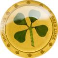 2016 Four Leaf Clover (Good Luck - Gold Luck) $1 1g gold .9999 proof.