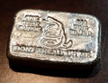 "1 oz Hand Pour Silver Bar STACKERS MINT Series ""DONT TREAD ON ME"" 2015"