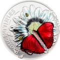 """2016 Exotic Butterflies 3D Silver Coin """"Cymothoe Hobarti"""" Tanzania 1000 Shillings"""