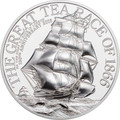 2016 The Great Tea Race of 1866 $10 PIEDFORT 2 oz Silver Coin - Cook Islands