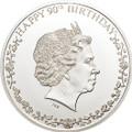 """2016 """"Happy 90th Birthday"""" Queen Elizabeth II $1 Silver Coin - Cook Islands"""