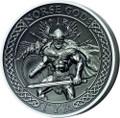 """2015 NORSE GODS Series """"TYR"""" 2 oz Silver Coin $10 Cook Islands COA Box"""