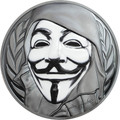 2016 GUY FAWKES MASK Anonymous $5 Silver Coin Cook Islands Box COA