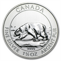 2013 1.5 oz Silver Canadian $8 Polar Bear