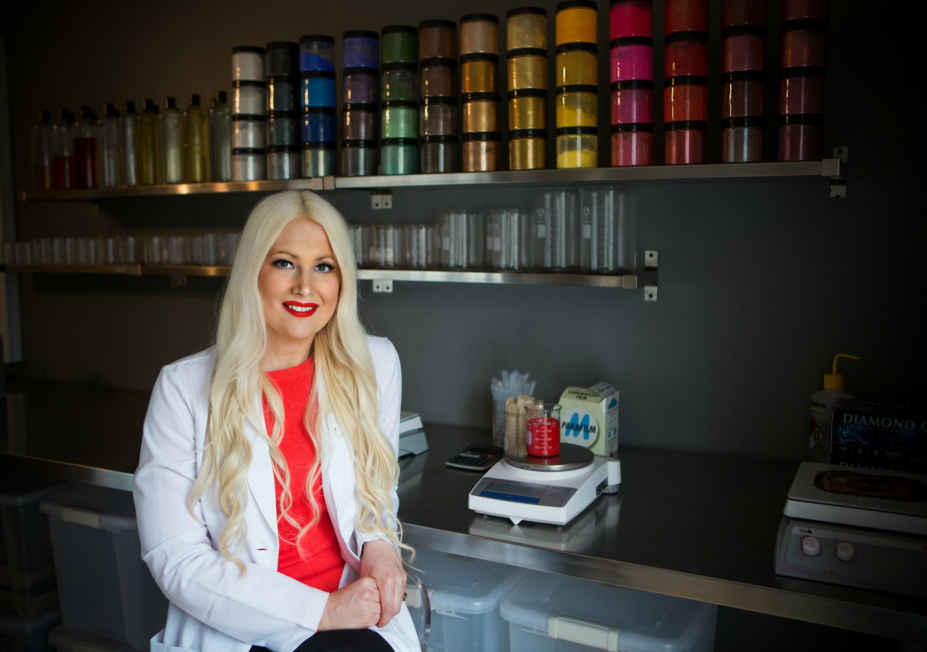 Hannah Follis our Cosmetic Chemist
