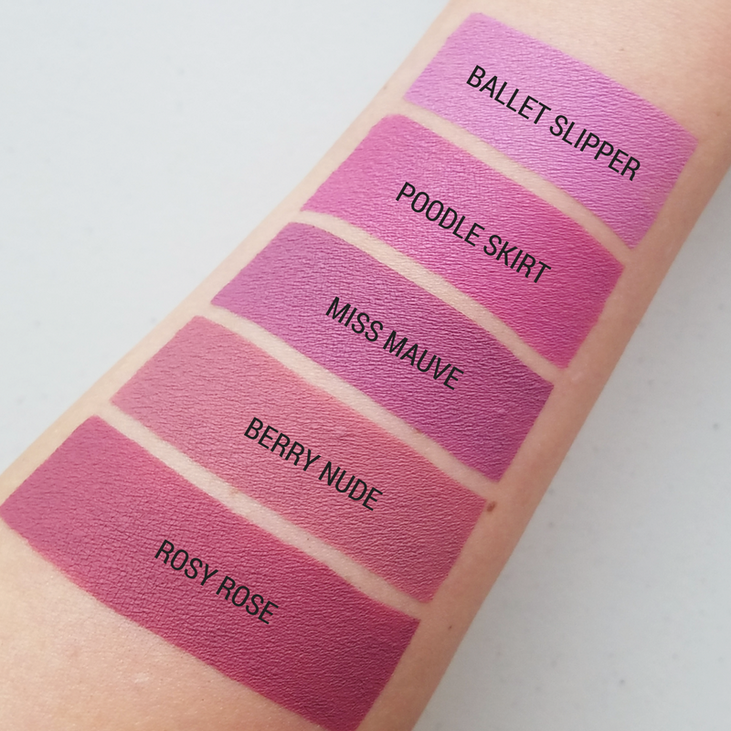 Aromi Rose and Pink Liquid Lipstick Swatches
