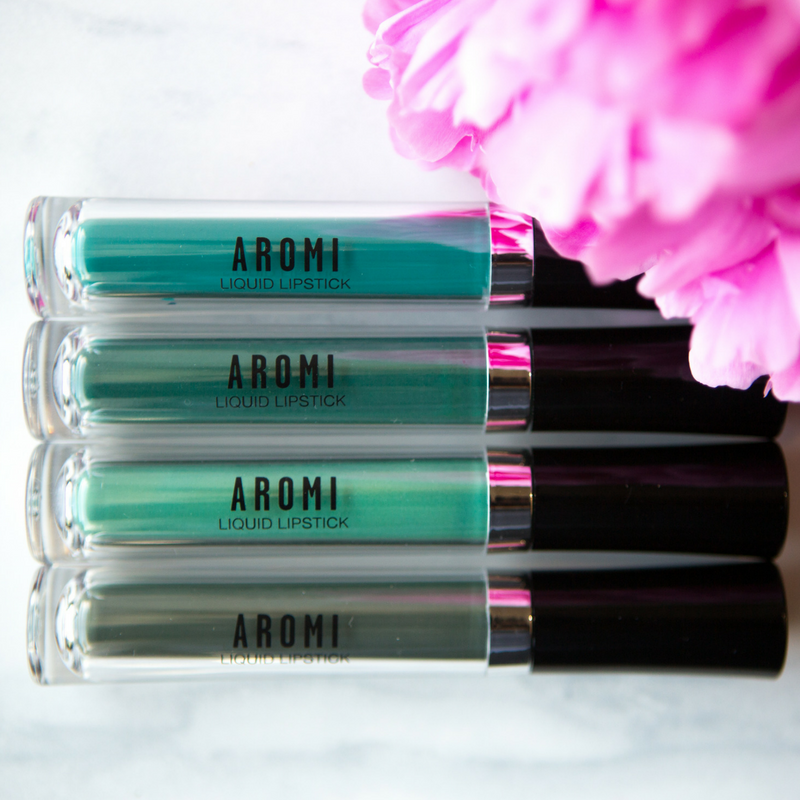 Aromi Beauty Green Liquid Lipstick Bundle