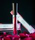 neon red lipstick
