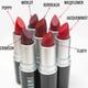 maroon + red lipsticks