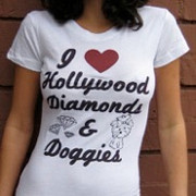 I Love Hollywood, Diamonds & Doggies T-Shirt