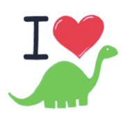 I Love Dinosaurs Toddler T-Shirt