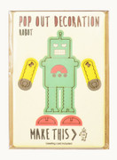 Pop Out Decoration Robot with Greeting Card