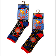 Rocket Blast Off Novelty Socks - 3pack