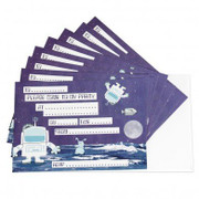 Set of 8 Party Invites Spaceman