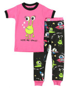 LazyOne Give Me Space Alien Girl Kids PJ Set