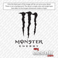 monster energy car decals, energy drink car decals