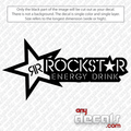 rockstar car decals, energy drink car decals