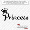Princess Logo Car Decal