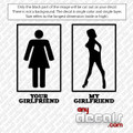 Your Girl Friend My Girl Friend Logo Car Decal