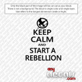 Keep Calm Rebellion Phrase Car Decal