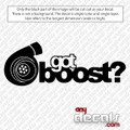 Got Boost Car Decal