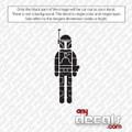 Star Wars Themed Car Stickers & Decals - Like Boba Fett