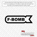 F-Bomb Car Decal and Stickers