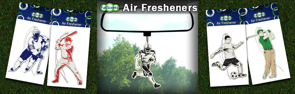 Air Fresheners for your favorite sports