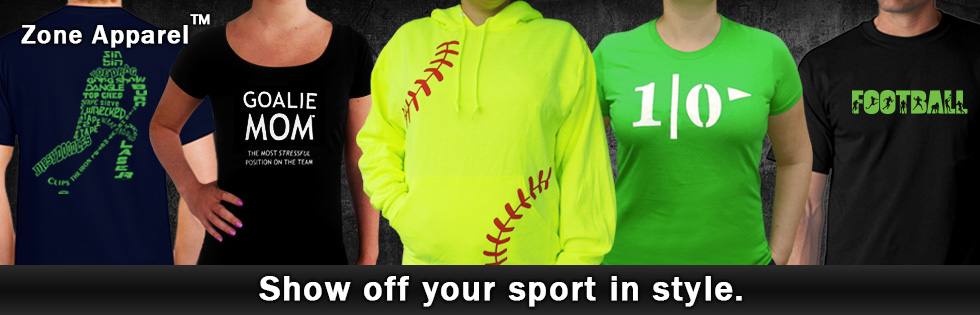 Check out clothing for your favorite sports.