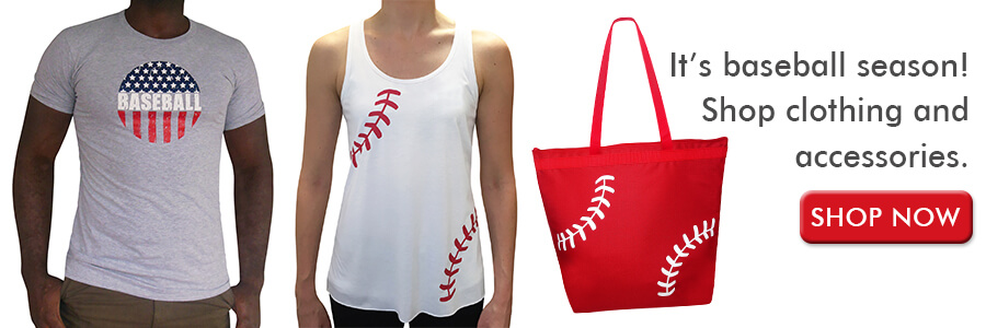 Shop clothes for baseball season
