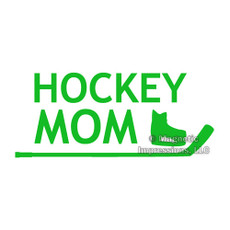 Hockey Mom Window Decal