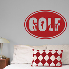 Golf Word Wall Décor in Red