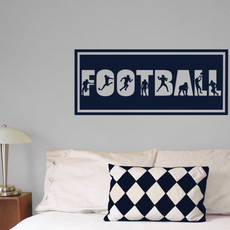 Football Word Wall Décor in Dark Blue