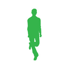 Irish Dancer Male Car Window Decal in Lime