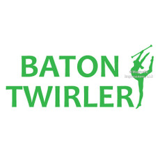 Baton Twirler Word Window Decal
