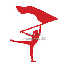 Color Guard Car Window Decal in Red