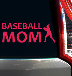Baseball Mom Batter Window Decal