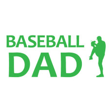 Baseball Dad Pitcher Window Decal