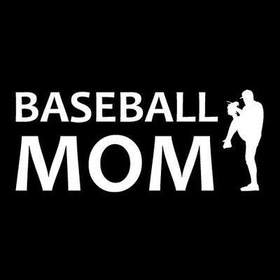 Baseball Mom Pitch Window Decal
