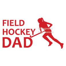 Field Hockey Dad Window Decal