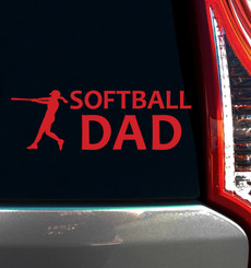Softball Dad Window Decal