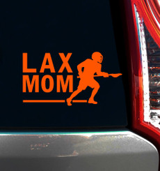 Lacrosse Mom Male Window Decal on car