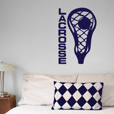 Lacrosse Head Wall Decor in Blue