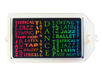 Dance Style Plastic Luggage Tag