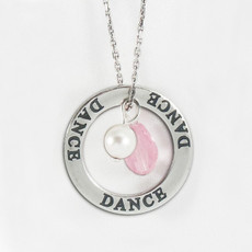 Dance Crystal Pink Necklace