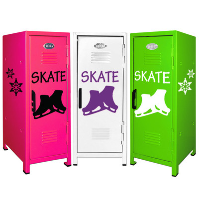 Figure Skating Mini Locker Trio