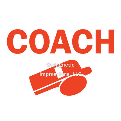 Coach Whistle Window Decal