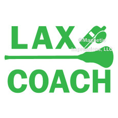 Lacrosse Coach Window Decal
